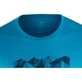 Icebreaker Tech Lite Geometry of Geology SS Crew Shirt Men Alpine
